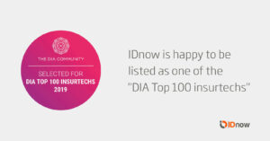 DIA lists IDnow in the Top 100 InsureTechs 3
